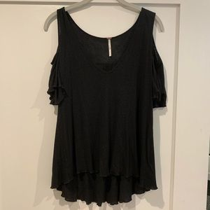 Free people cut out shoulder top!